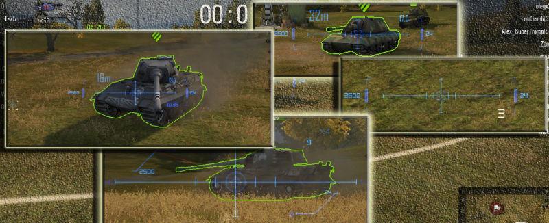 прицел для world of tanks WOT_VERSION с зонами пробития
